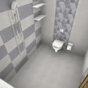 Demo Bathroom with wall tiles for VisualEz