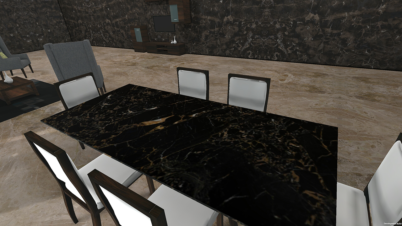 Demo Living room with table top marble for VisualEz